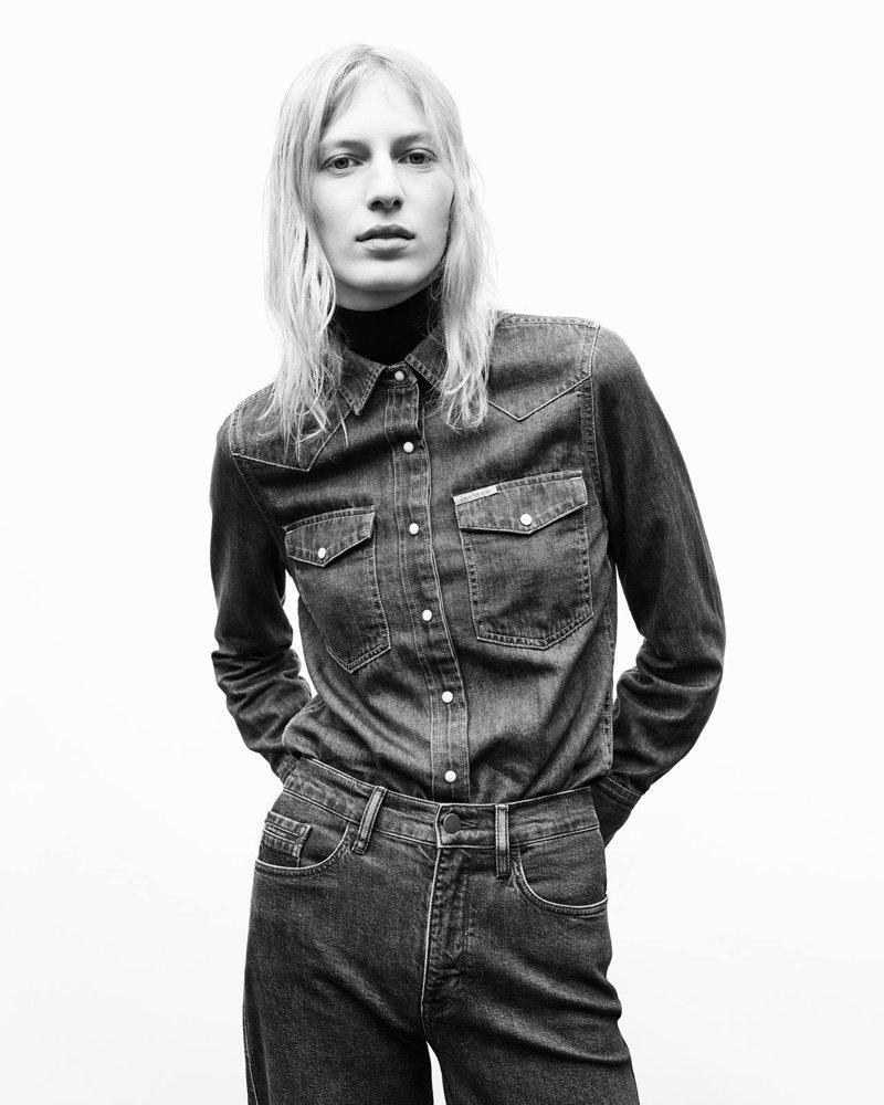 Julia Nobis fronts Calvin Klein Jeans' fall-winter 2017 campaign