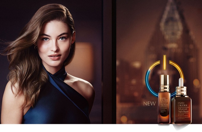 Grace Elizabeth stars in Advanced Night Repair Intense Reset Concentrate campaign